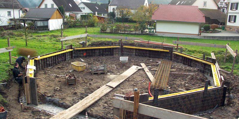 Fundamentarbeiten an der Drehanlage