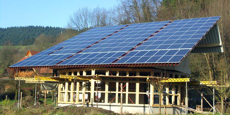 Fertigstellung der Photovoltaikanlage