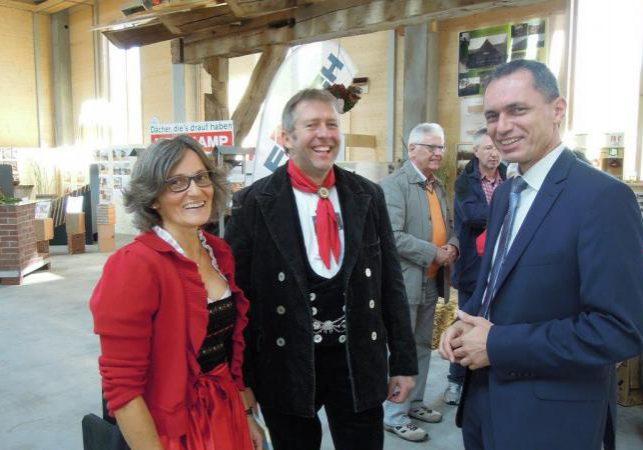 Auch Bürgermeister Pfundstein und Ortsvorsteher Wagner statteten uns einen Besuch ab.