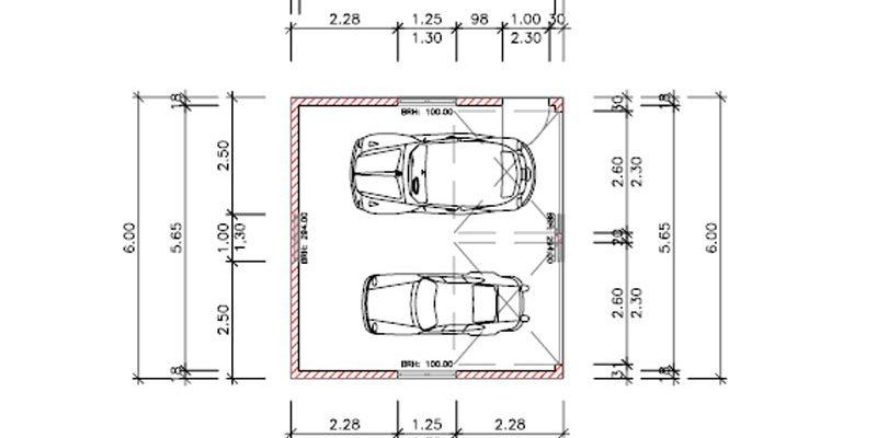 Planung mit Bauleitung einer Garage in Zell-Unterharmersbach