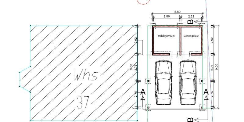 Planung mit Bauleitung eines Carport mit Lager und Geräteraum in Oberwolfach