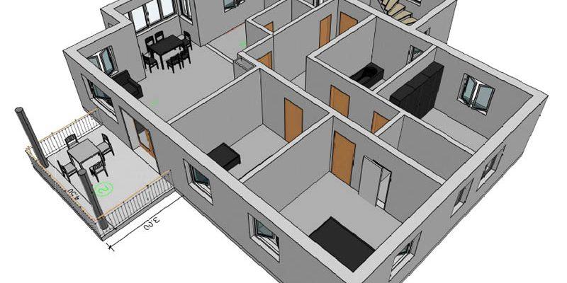 Planung und Bauleitung eines Mehrfamilienhauses mit vier Wohneinheiten in Zell-Unterharmersbach